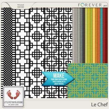 Le Chef Overlays & Linen Paper