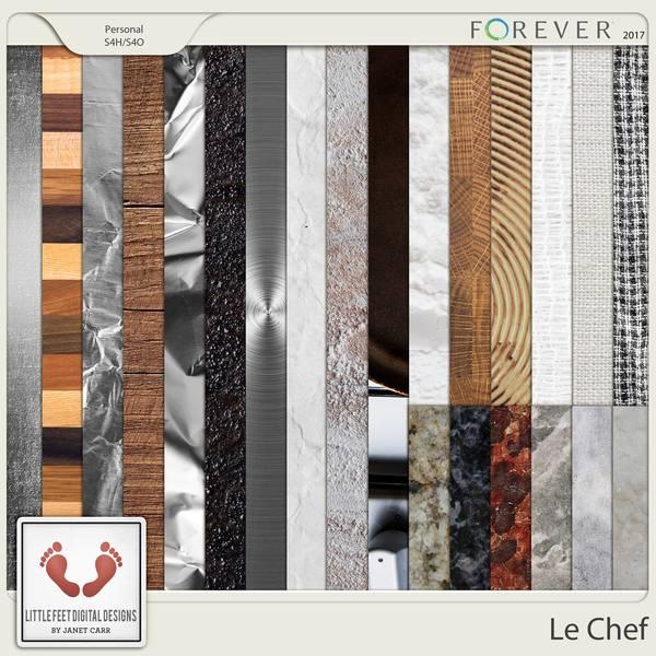 Le Chef Surface Papers Digital Art - Digital Scrapbooking Kits