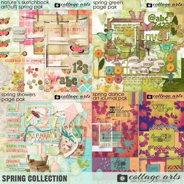 Spring Collection Digital Art - Digital Scrapbooking Kits