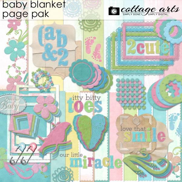 Baby Blanket Page Pak Digital Art - Digital Scrapbooking Kits