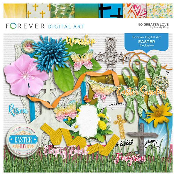 No Greater Love Digital Art - Digital Scrapbooking Kits