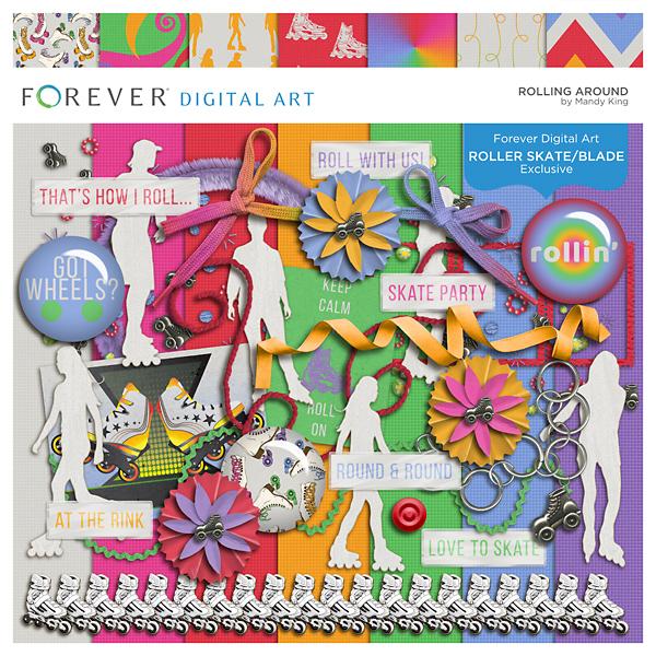 Rolling Around Digital Art - Digital Scrapbooking Kits