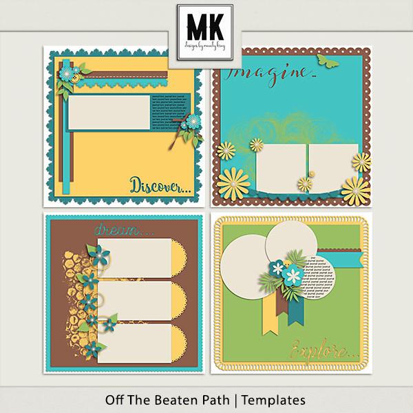 Off The Beaten Path - Templates Digital Art - Digital Scrapbooking Kits