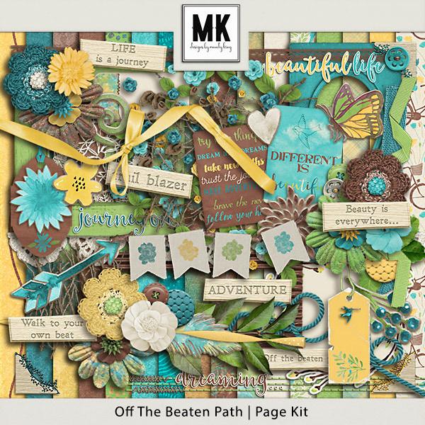 Off The Beaten Path - Page Kit Digital Art - Digital Scrapbooking Kits