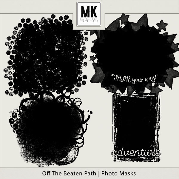 Off The Beaten Path - Photo Masks Digital Art - Digital Scrapbooking Kits