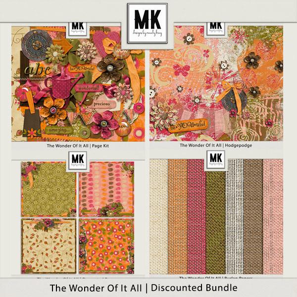The Wonder Of It All Discounted Bundle Digital Art - Digital Scrapbooking Kits