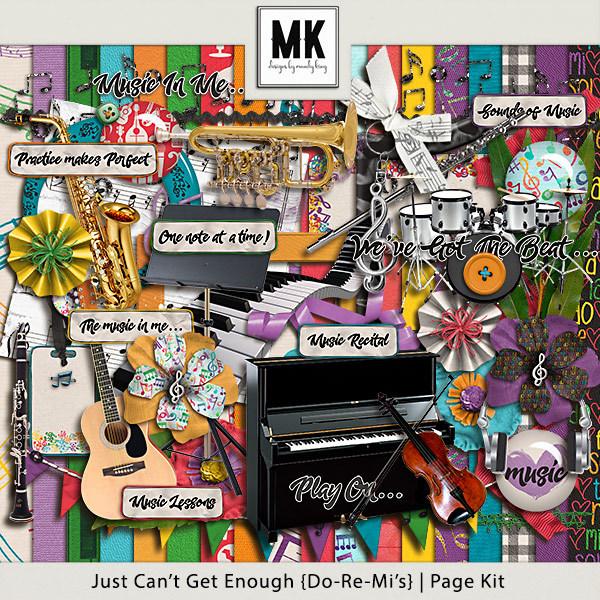 Just Can't Get Enough Do-re-mi - Page Kit Digital Art - Digital Scrapbooking Kits