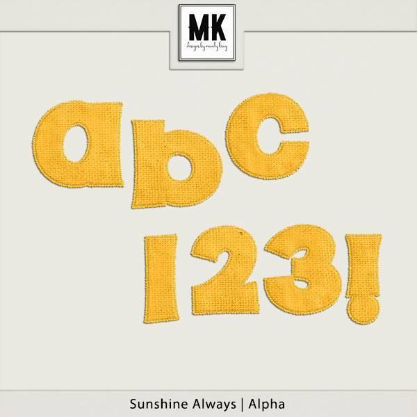 Sunshine Always - Alpha Digital Art - Digital Scrapbooking Kits