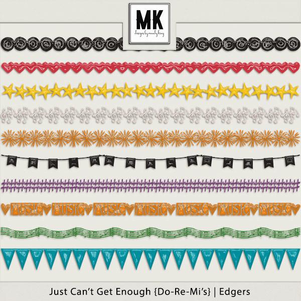 Just Can't Get Enough Do-re-mi - Edgers Digital Art - Digital Scrapbooking Kits