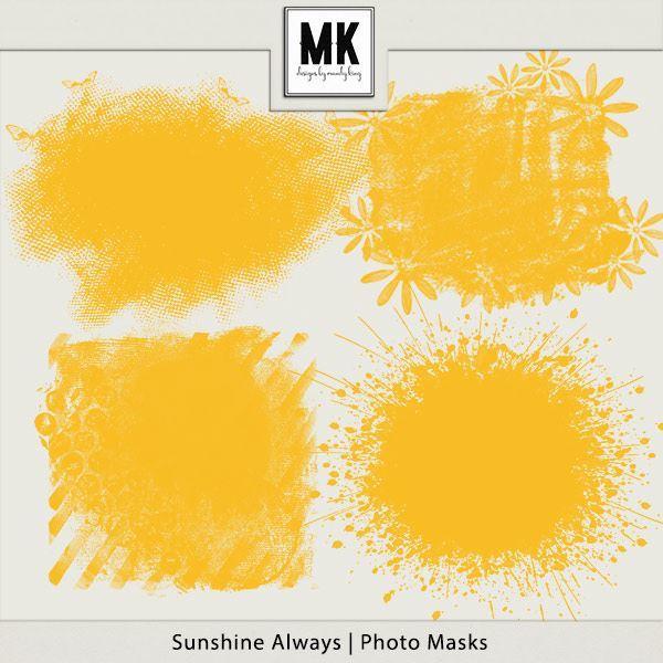 Sunshine Always - Photo Masks Digital Art - Digital Scrapbooking Kits