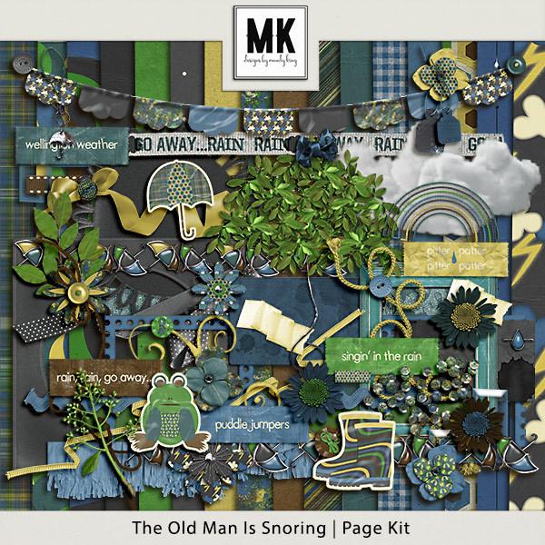 The Old Man Is Snoring - Page Kit Digital Art - Digital Scrapbooking Kits