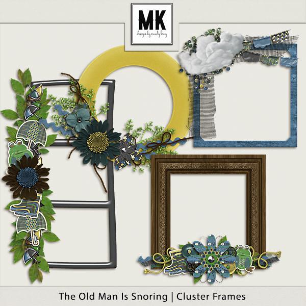 The Old Man Is Snoring - Cluster Frames Digital Art - Digital Scrapbooking Kits