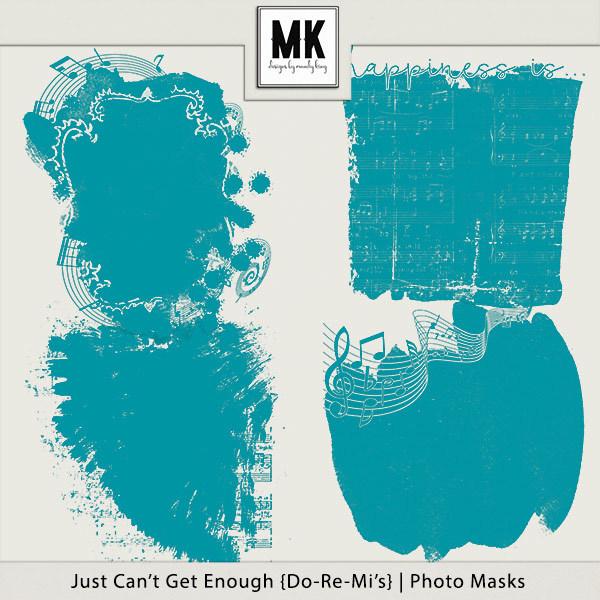Just Can't Get Enough Do-re-mi - Photo Masks Digital Art - Digital Scrapbooking Kits
