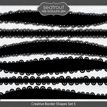 Creative Border Shapes Set 5 Digital Art - Digital Scrapbooking Kits
