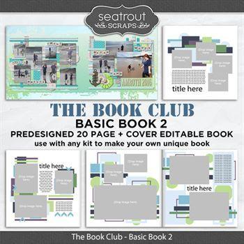 The Book Club - Basic Book 2 - Predesigned Editable Book Digital Art - Digital Scrapbooking Kits
