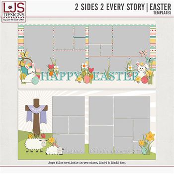 2 Sides 2 Every Story - Easter Digital Art - Digital Scrapbooking Kits
