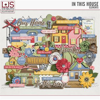 In This House - Elements Digital Art - Digital Scrapbooking Kits