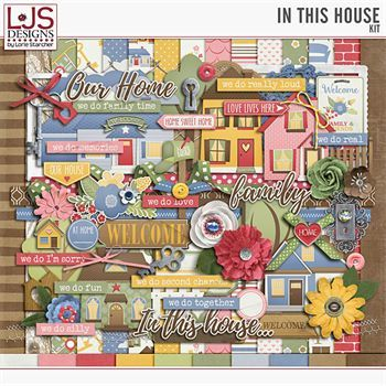 In This House - Kit Digital Art - Digital Scrapbooking Kits