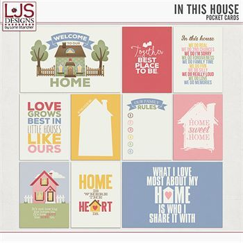 In This House - Pocket Cards Digital Art - Digital Scrapbooking Kits