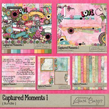 Captured Moments 1 Bundle Digital Art - Digital Scrapbooking Kits