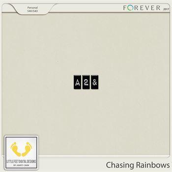 Chasing Rainbows Alpha Digital Art - Digital Scrapbooking Kits