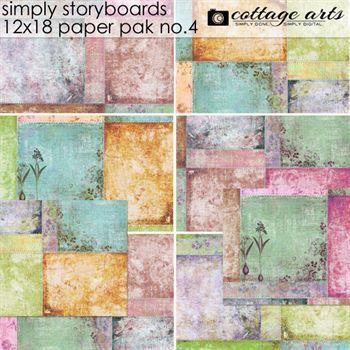 Simply Storyboards 4 - 12x18 Paper Pak Digital Art - Digital Scrapbooking Kits