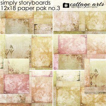 Simply Storyboards 3 - 12x18 Paper Pak Digital Art - Digital Scrapbooking Kits