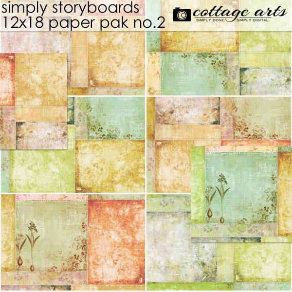 Simply Storyboards 2 - 12x18 Paper Pak Digital Art - Digital Scrapbooking Kits