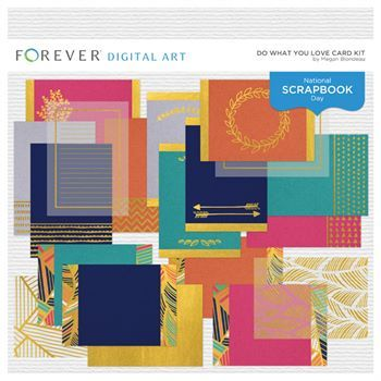 Do What You Love Card Kit Digital Art - Digital Scrapbooking Kits