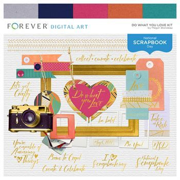 Do What You Love Kit Digital Art - Digital Scrapbooking Kits