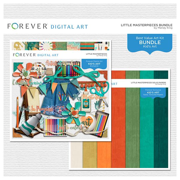 Little Masterpieces Bundle Digital Art - Digital Scrapbooking Kits