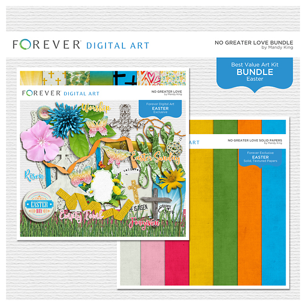 No Greater Love Bundle Digital Art - Digital Scrapbooking Kits