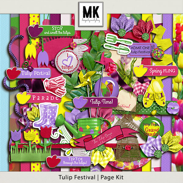 Tulip Festival - Page Kit Digital Art - Digital Scrapbooking Kits