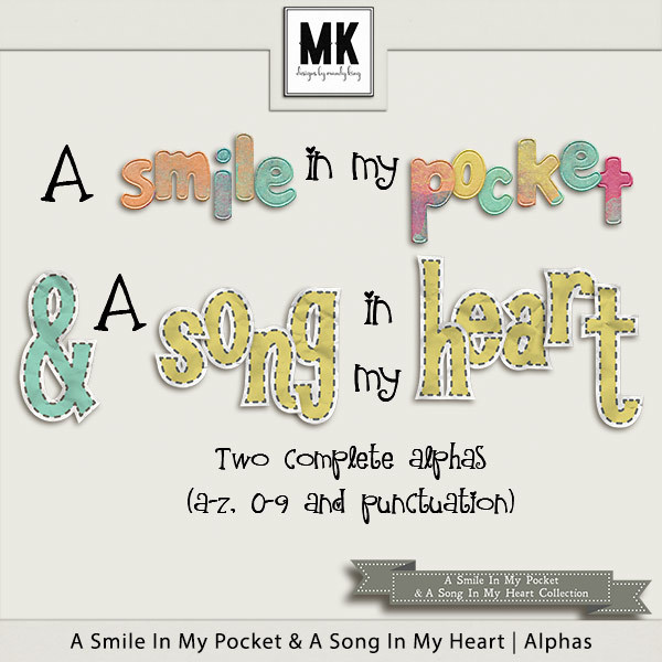 Smile In My Pocket & A Song In My Heart - Alphas Digital Art - Digital Scrapbooking Kits