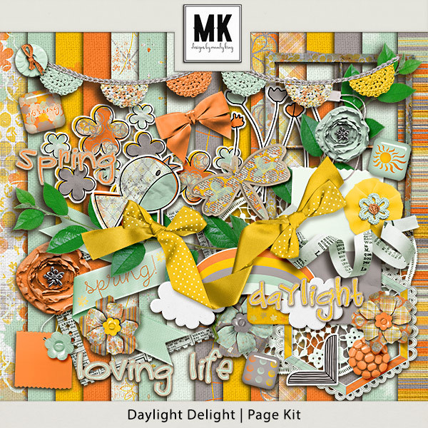 Daylight Delight - Page Kit Digital Art - Digital Scrapbooking Kits