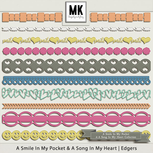 Smile In My Pocket & A Song In My Heart - Edgers Digital Art - Digital Scrapbooking Kits
