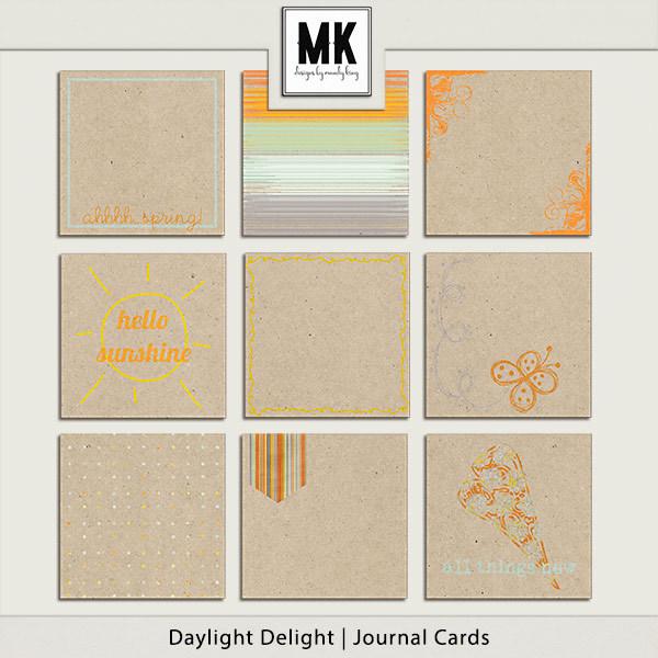 Daylight Delight - Journal Cards Digital Art - Digital Scrapbooking Kits