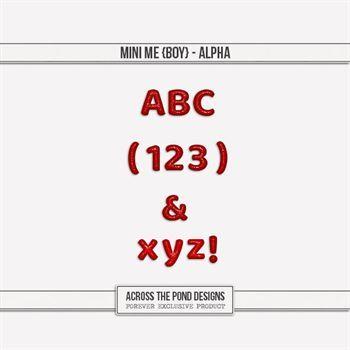 Mini Me - Boy Alpha Digital Art - Digital Scrapbooking Kits