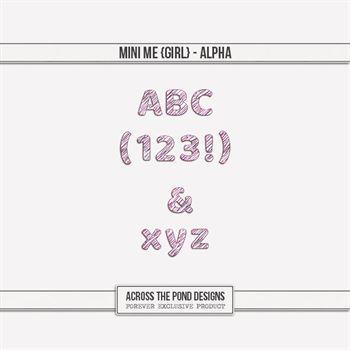 Mini Me - Girl Alpha Digital Art - Digital Scrapbooking Kits
