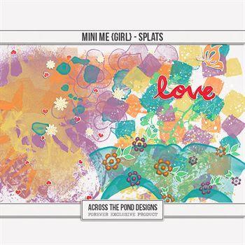 Mini Me - Girl Splats Digital Art - Digital Scrapbooking Kits