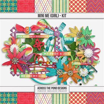 Mini Me - Girl Kit Digital Art - Digital Scrapbooking Kits