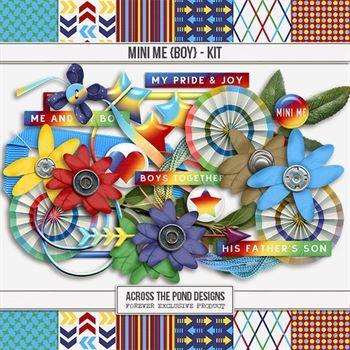Mini Me - Boy Kit Digital Art - Digital Scrapbooking Kits