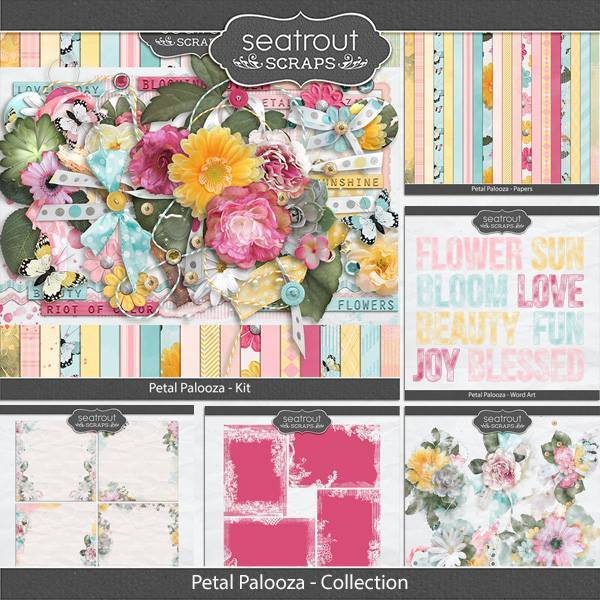Petal Palooza Discounted Bundle Digital Art - Digital Scrapbooking Kits