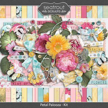 Petal Palooza Kit Digital Art - Digital Scrapbooking Kits