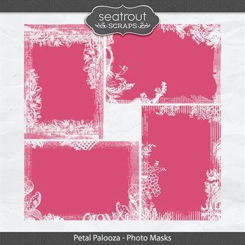 Petal Palooza Photo Masks Digital Art - Digital Scrapbooking Kits