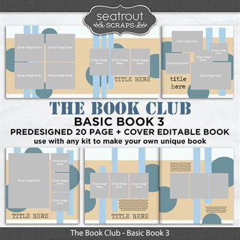 The Book Club - Basic Book 3 - Predesigned Editable Book Digital Art - Digital Scrapbooking Kits