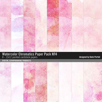 Watercolor Chromatics Paper Pack No. 04 Digital Art - Digital Scrapbooking Kits