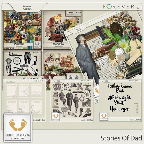 Stories Of Dad Mega Bundle Digital Art - Digital Scrapbooking Kits
