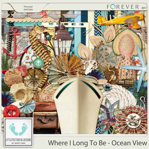 Where I Long To Be - Ocean View Digital Kit Digital Art - Digital Scrapbooking Kits