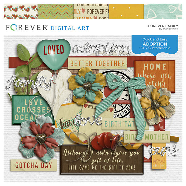 Forever Family Digital Art - Digital Scrapbooking Kits